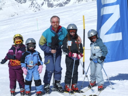 The skiers at Alpe D'Huez